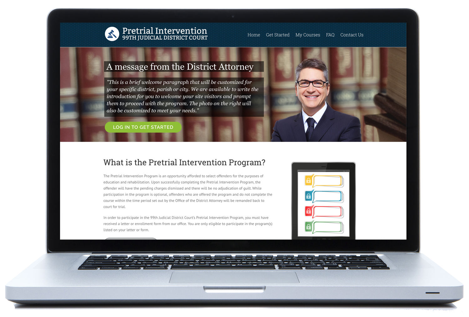 Online Pretrial Intervention Courses